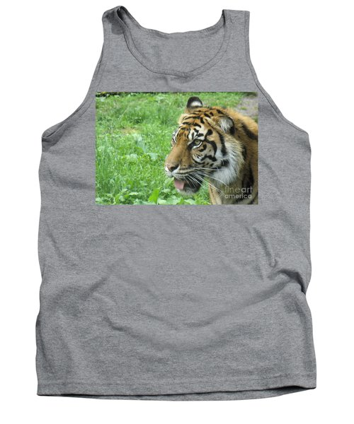 Tank Top featuring the photograph Eye Of The Tiger by Lingfai Leung