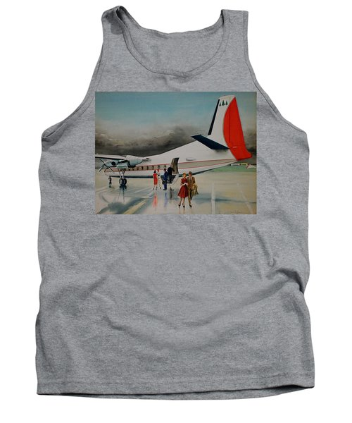 F-27 At Columbus Ohio Tank Top by Frank Hunter