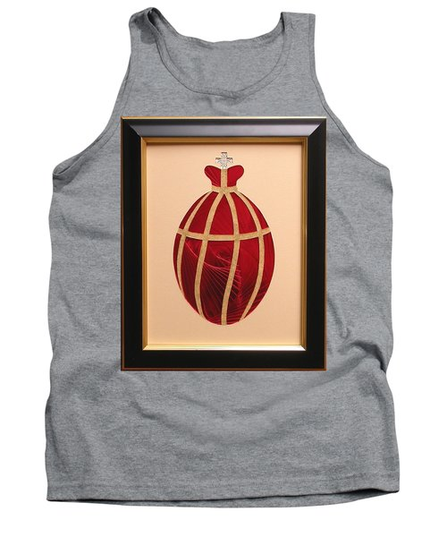 Tank Top featuring the mixed media Faberge Egg 2 by Ron Davidson