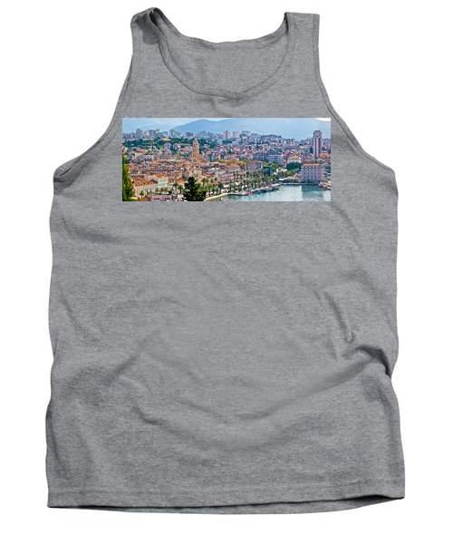 Fabulous Split Waterfront Aerial Panorama Tank Top by Brch Photography