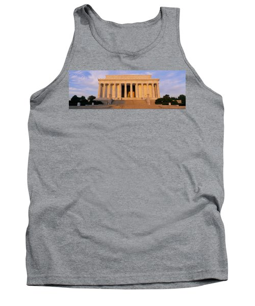 Facade Of A Memorial Building, Lincoln Tank Top by Panoramic Images