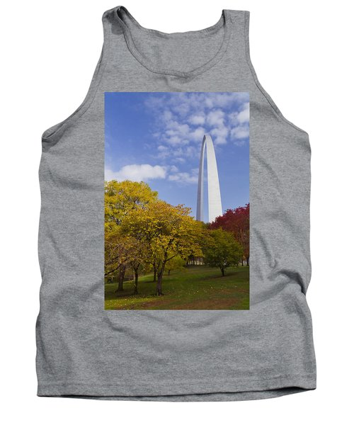 Fall At The St Louis Arch Tank Top by Garry McMichael