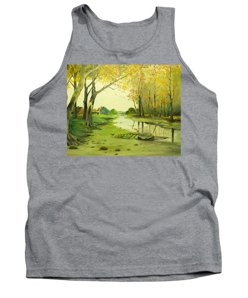 Fall By The Stream By Merlin Reynolds Tank Top