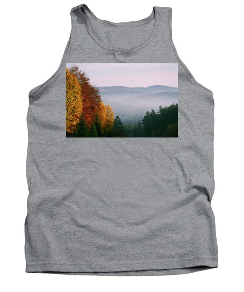 Tank Top featuring the photograph Fall Morning by David Porteus