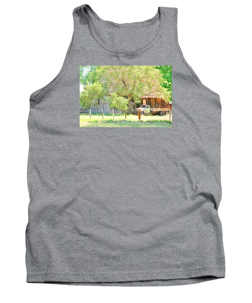 Tank Top featuring the photograph Farm Living by Marilyn Diaz