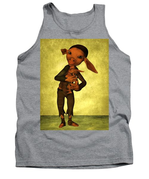 Tank Top featuring the digital art Father And Son by Gabiw Art