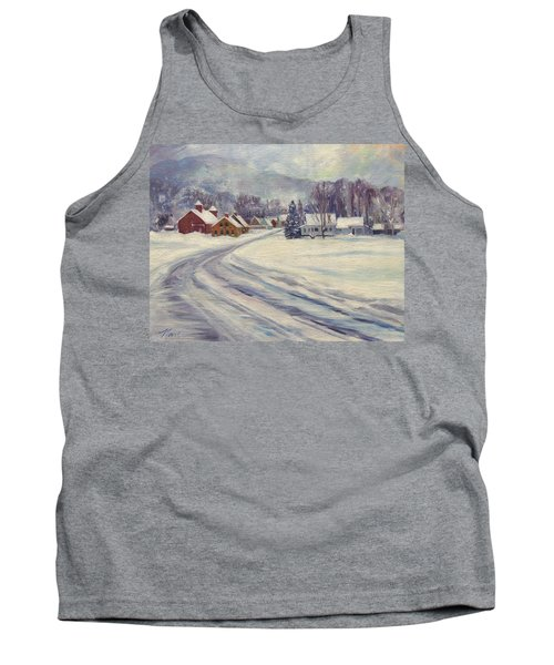Felchville Village In The Snow Tank Top