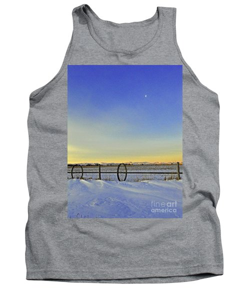 Fence And Moon Tank Top