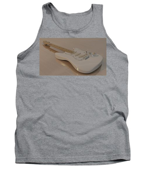 Fender Stratocaster In White Tank Top