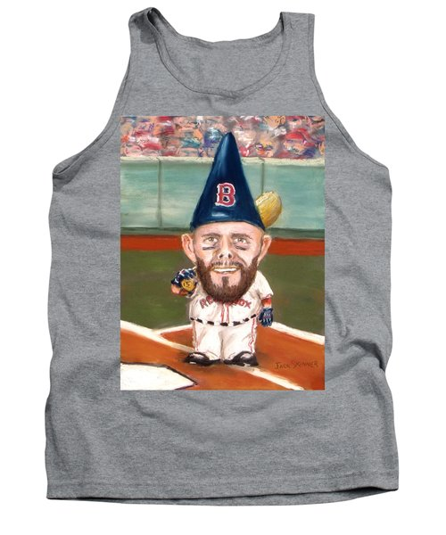 Tank Top featuring the painting Fenway's Garden Gnome by Jack Skinner