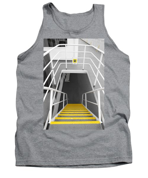 Tank Top featuring the photograph Ferry Stairwell by Marilyn Wilson