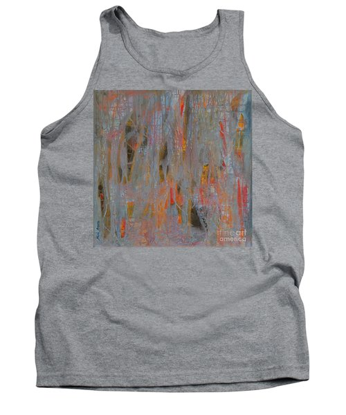 Tank Top featuring the painting Fibres Of My Being by Mini Arora