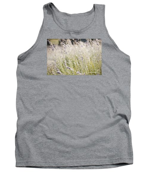 Field Of Lavender At Clos Lachance Vineyard In Morgan Hill Ca Tank Top
