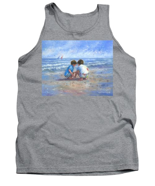 Finding Sea Shells Brother And Sister Tank Top