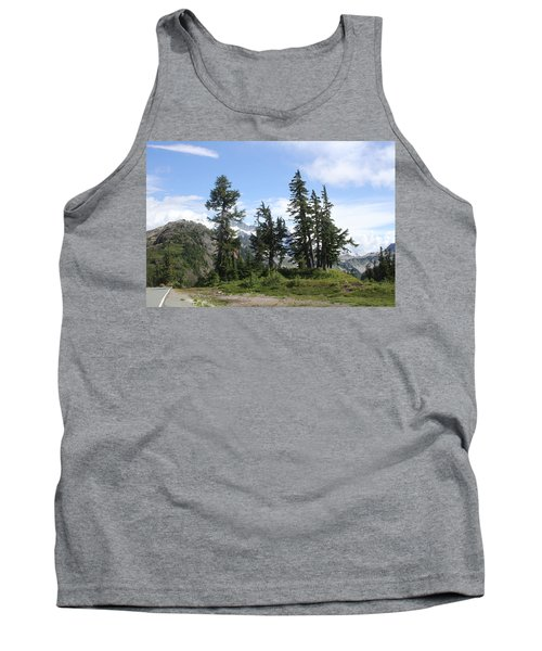 Tank Top featuring the photograph Fir Trees At Mount Baker by Tom Janca