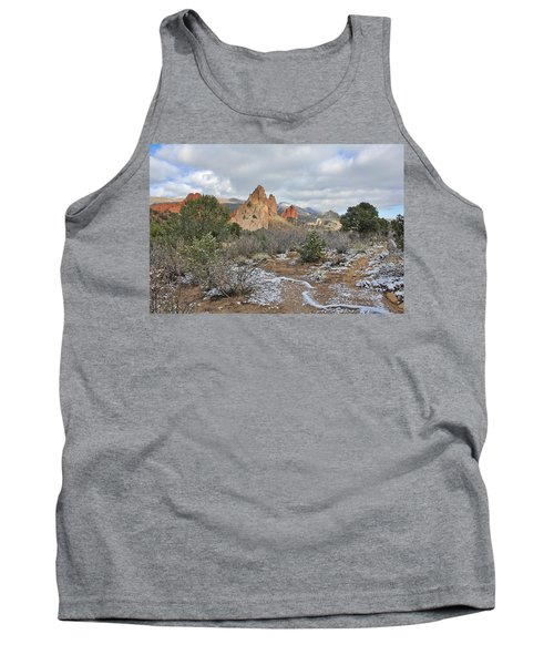 Tank Top featuring the photograph First Snow At Garden Of The Gods by Diane Alexander