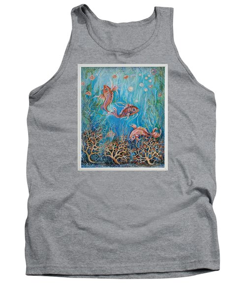 Fish In A Pond Tank Top by Yolanda Rodriguez