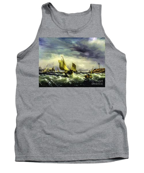 Tank Top featuring the digital art Fishing In High Water by Lianne Schneider