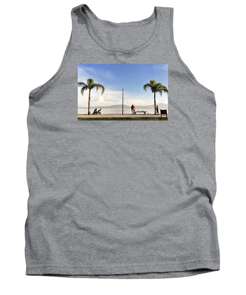 Tank Top featuring the photograph Fishing On Lake Chapala by David Perry Lawrence