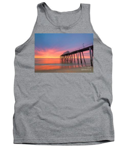Fishing Pier Sunrise Tank Top