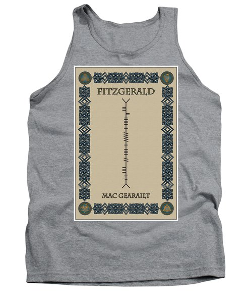 Fitzgerald Written In Ogham Tank Top