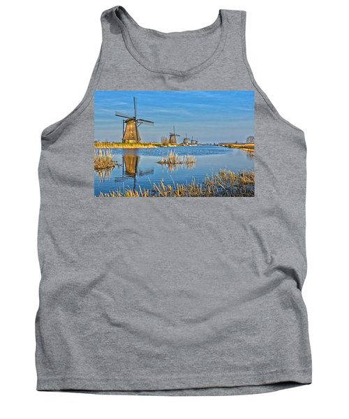 Five Windmills At Kinderdijk Tank Top