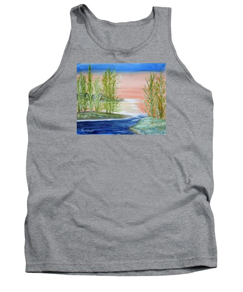 Flathead Lake Sunset Tank Top