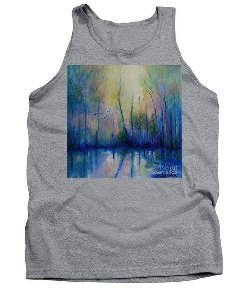 Tank Top featuring the painting Flight In Morning Symphony by Alison Caltrider