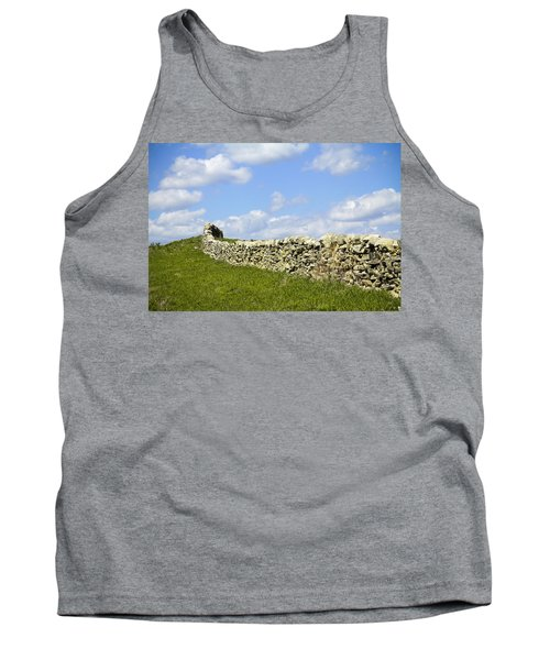Tank Top featuring the photograph Flint Hills Rock Fence by Steven Bateson