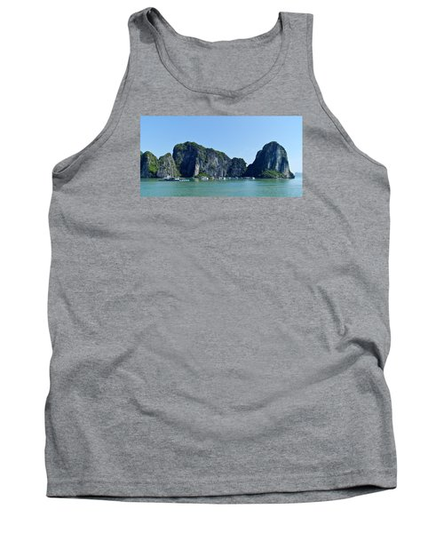 Floating Village Ha Long Bay Tank Top by Scott Carruthers