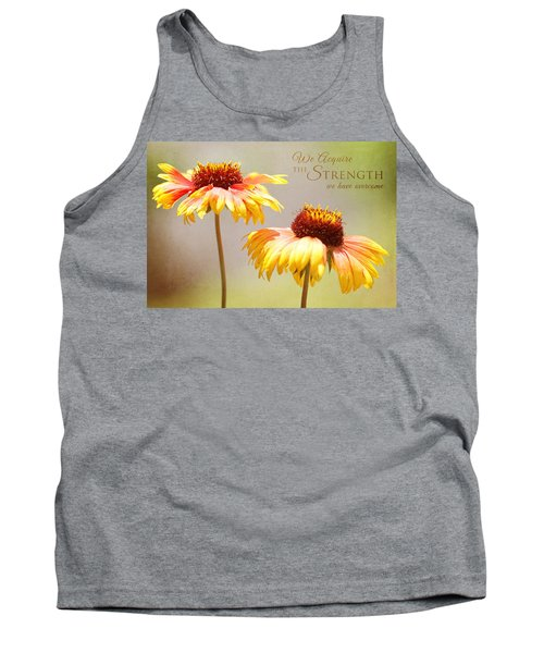Floral Sunshine With Message Tank Top