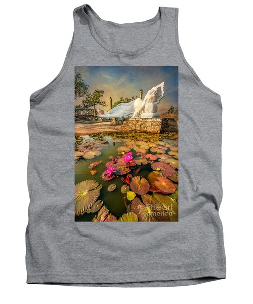 Flowers And Buddha Tank Top