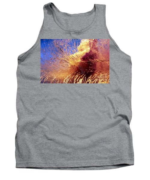 Tank Top featuring the photograph Flowers In Ice by Randi Grace Nilsberg