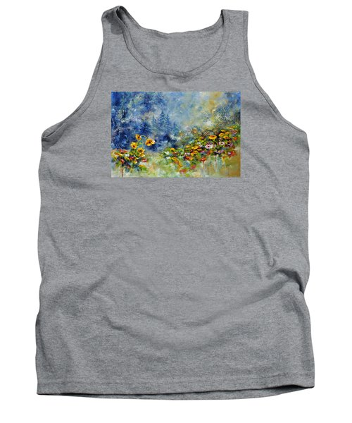 Flowers In The Fog Tank Top