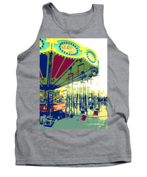Tank Top featuring the digital art Flying Chairs by Valerie Reeves
