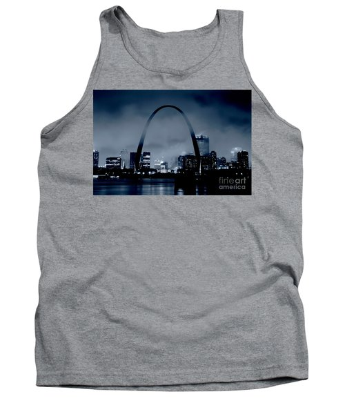 Fog Over St Louis Monochrome Tank Top by Garry McMichael