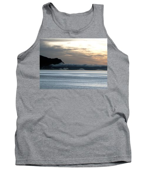 Tank Top featuring the photograph Fog Roll Sunset by Jennifer Wheatley Wolf