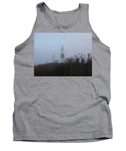 Foggy Montauk Lighthouse Tank Top