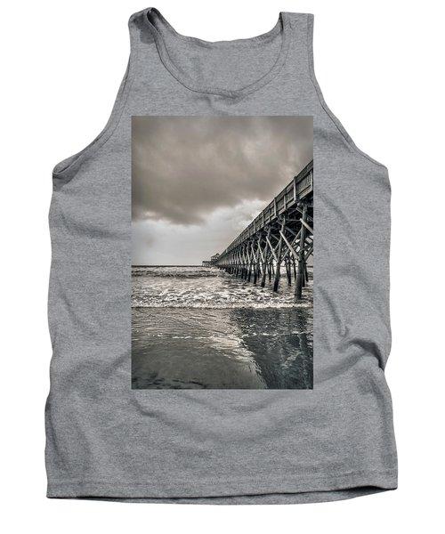 Tank Top featuring the photograph Folly Beach Pier by Sennie Pierson