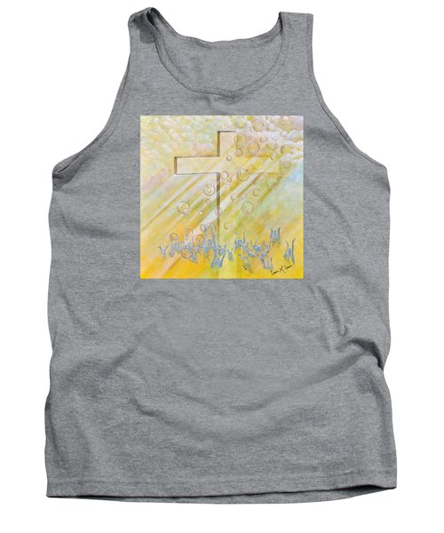 Tank Top featuring the painting For The Cross by Cassie Sears