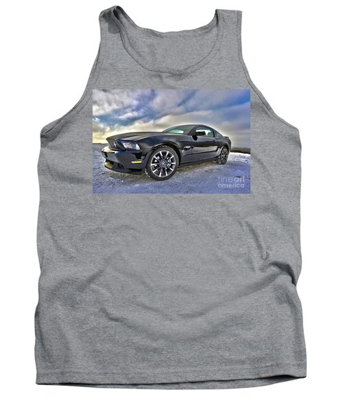Tank Top featuring the photograph ford mustang car HDR by Paul Fearn