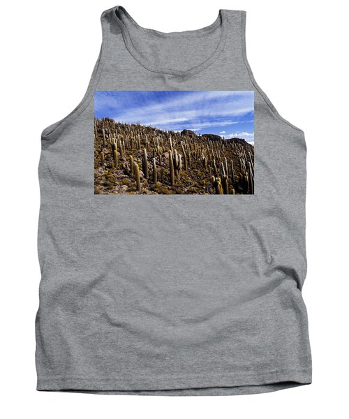 Forest Of Cacti Tank Top by Lana Enderle