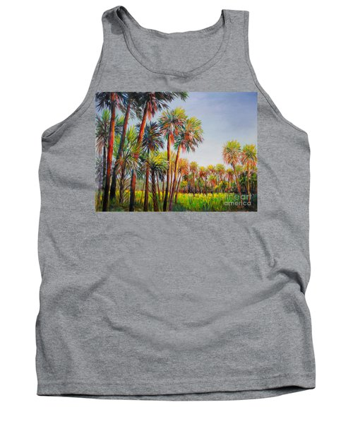 Forest Of Palms Tank Top by Lou Ann Bagnall