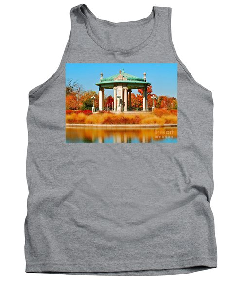 Tank Top featuring the photograph Forest Park Gazebo by Peggy Franz