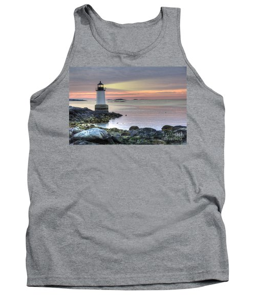 Fort Pickering Lighthouse At Sunrise Tank Top
