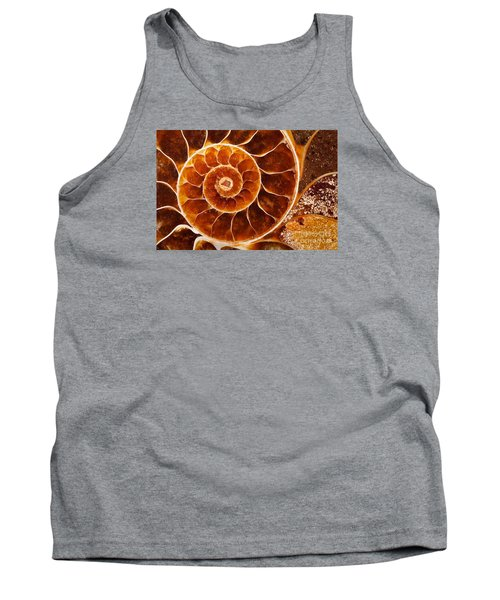 Fossil Nautilus Tank Top by Alice Cahill