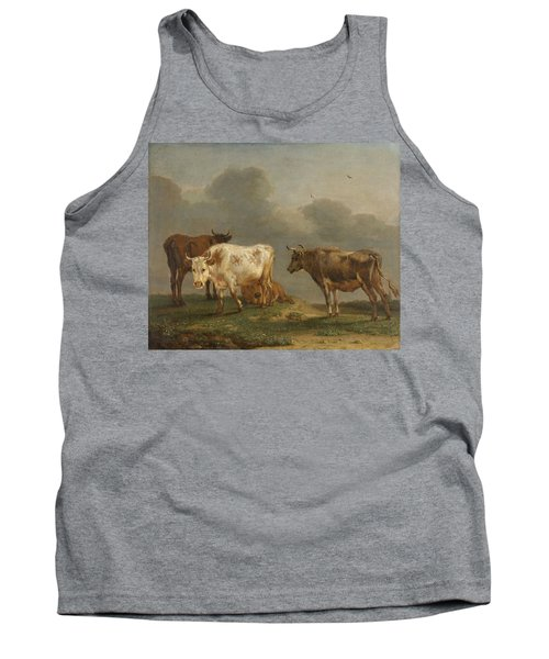 Four Cows In A Meadow Tank Top