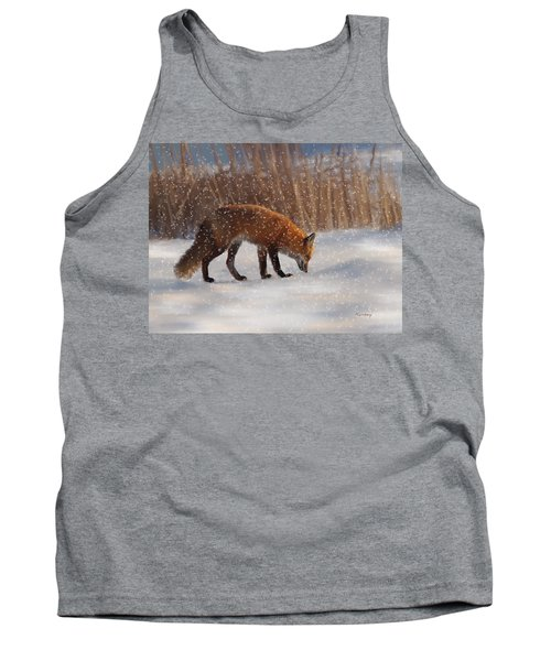 Fox In The Snow Tank Top