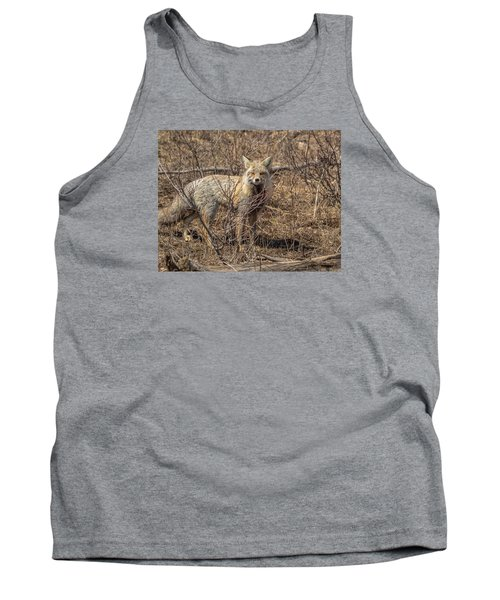Tank Top featuring the photograph Foxy In Disguise by Yeates Photography