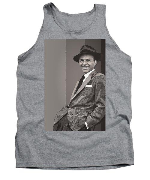 Frank Sinatra Tank Top by Daniel Hagerman